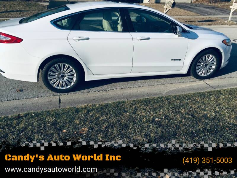 2015 Ford Fusion Hybrid for sale at Candy's Auto World Inc in Toledo OH