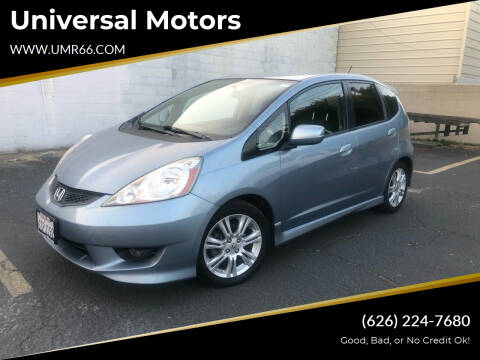 2011 Honda Fit for sale at Universal Motors in Glendora CA