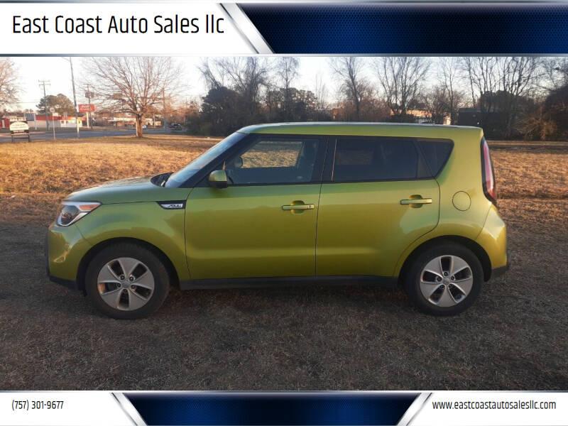 2016 Kia Soul for sale at East Coast Auto Sales llc in Virginia Beach VA