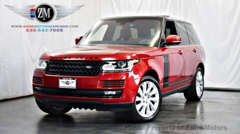 2016 Land Rover Range Rover for sale at ZONE MOTORS in Addison IL