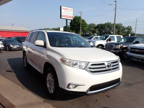 2012 Toyota Highlander for sale at Marty's Auto Sales in Savage MN