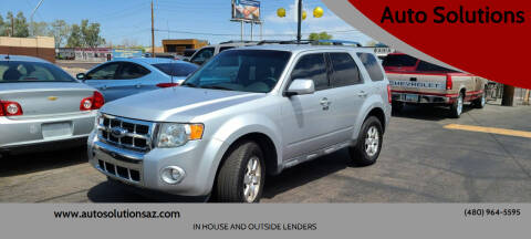2011 Ford Escape for sale at Auto Solutions in Mesa AZ