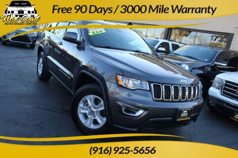 2017 Jeep Grand Cherokee for sale at West Coast Auto Sales Center in Sacramento CA