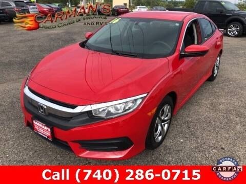 2016 Honda Civic for sale at Carmans Used Cars & Trucks in Jackson OH