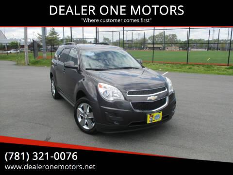 2013 Chevrolet Equinox for sale at DEALER ONE MOTORS in Malden MA