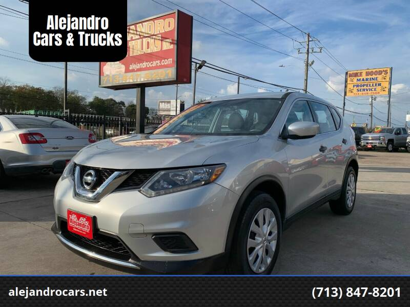 2016 Nissan Rogue for sale at Alejandro Cars & Trucks Inc in Houston TX
