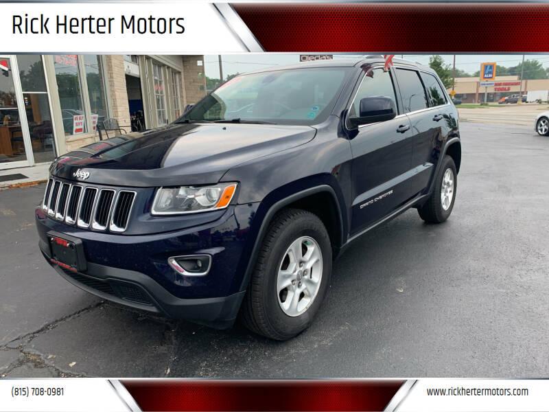 2014 Jeep Grand Cherokee for sale at Rick Herter Motors in Loves Park IL