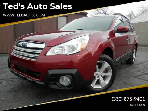 2014 Subaru Outback for sale at Ted's Auto Sales in Louisville OH