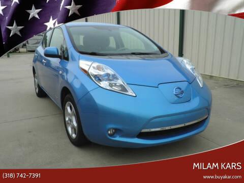 2012 Nissan LEAF for sale at MILAM KARS in Bossier City LA