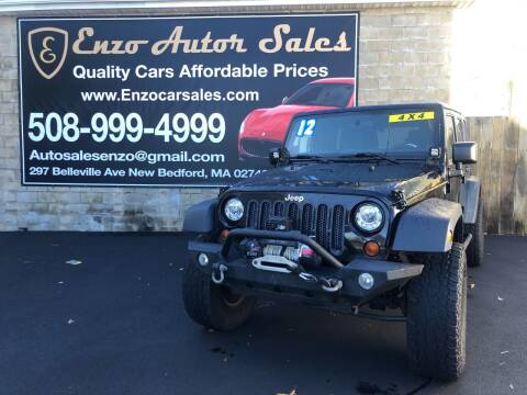 2012 Jeep Wrangler Unlimited for sale at Enzo Auto Sales in New Bedford MA