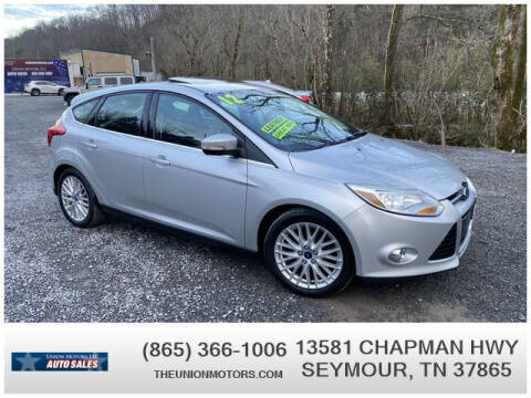 2012 Ford Focus for sale at Union Motors in Seymour TN
