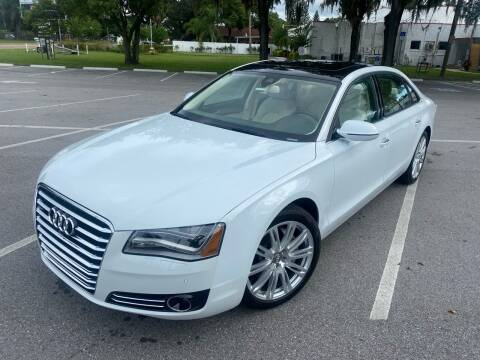 2013 Audi A8 L for sale at CHECK  AUTO INC. in Tampa FL