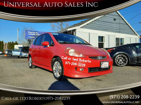 2008 Honda Fit for sale at Universal Auto Sales Inc in Salem OR