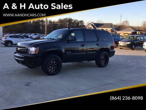 2011 Chevrolet Tahoe for sale at A & H Auto Sales in Greenville SC