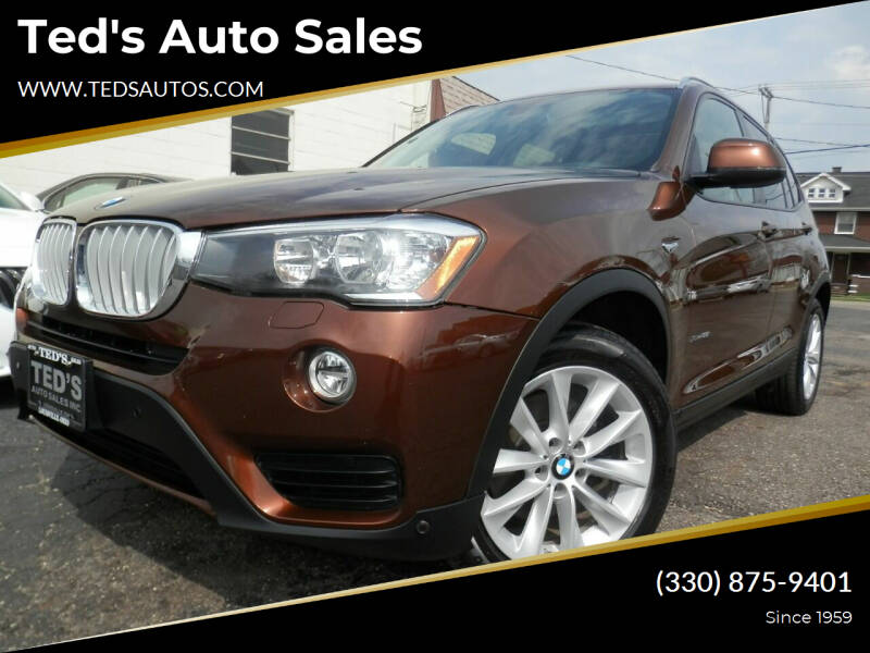 2017 BMW X3 for sale at Ted's Auto Sales in Louisville OH