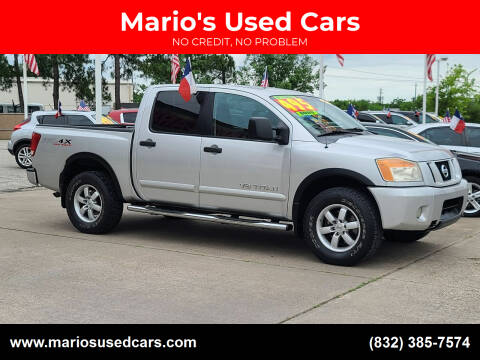 2008 Nissan Titan for sale at Mario's Used Cars in Houston TX