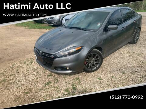 2013 Dodge Dart for sale at Hatimi Auto LLC in Buda TX