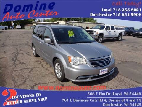 2013 Chrysler Town and Country for sale at Domine Auto Center in Loyal WI