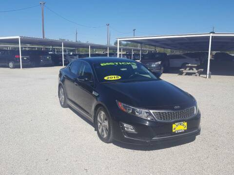 2015 Kia Optima Hybrid for sale at Bostick's Auto & Truck Sales in Brownwood TX