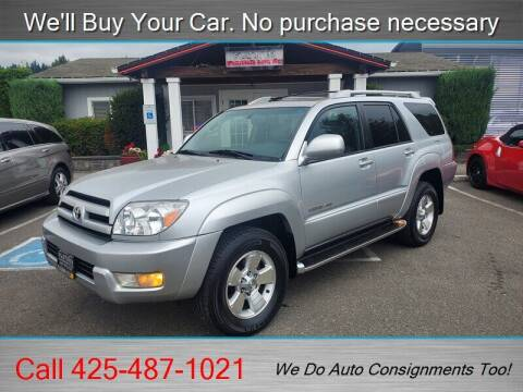 2003 Toyota 4Runner for sale at Platinum Autos in Woodinville WA