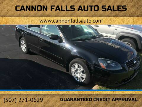 2006 Nissan Altima for sale at Cannon Falls Auto Sales in Cannon Falls MN