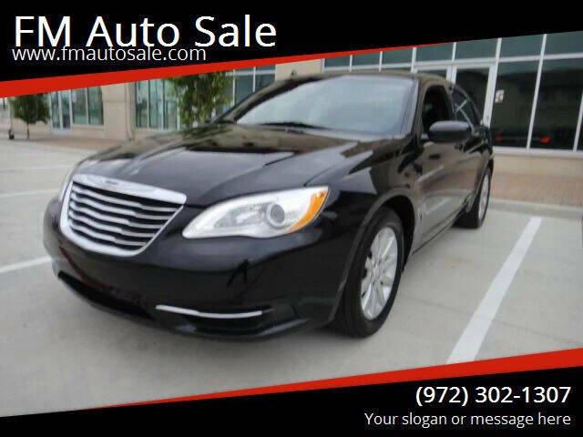 2013 Chrysler 200 for sale at F.M Auto Sale LLC in Dallas TX