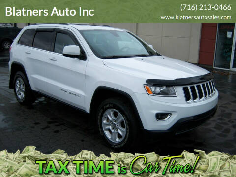 2015 Jeep Grand Cherokee for sale at Blatners Auto Inc in North Tonawanda NY
