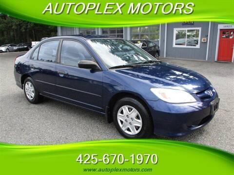 2004 Honda Civic for sale at Autoplex Motors in Lynnwood WA