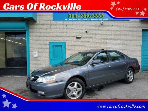 2003 Acura TL for sale at Cars Of Rockville in Rockville MD