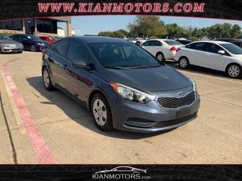 2016 Kia Forte for sale at KIAN MOTORS INC in Plano TX