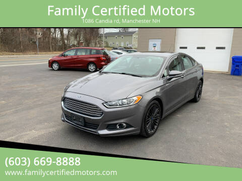 2014 Ford Fusion for sale at Family Certified Motors in Manchester NH