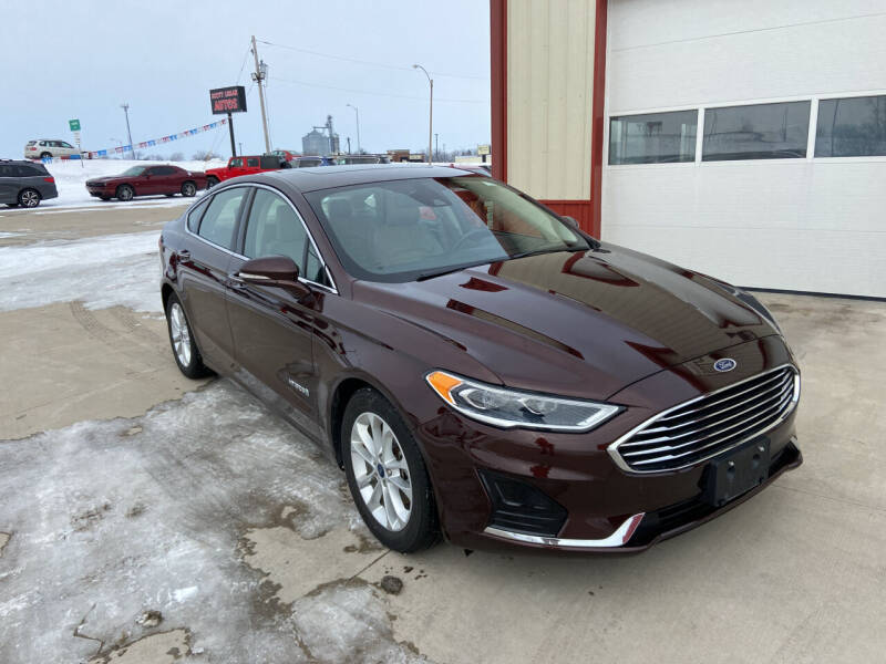 2019 Ford Fusion Hybrid for sale at SCOTT LEMAN AUTOS in Goodfield IL