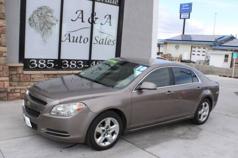 2010 Chevrolet Malibu for sale at A&A Auto Sales in Orem UT