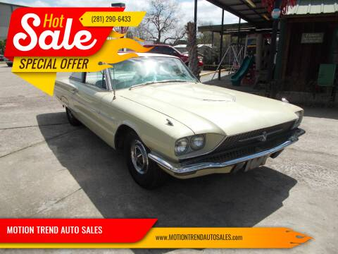 1966 Ford Thunderbird for sale at MOTION TREND AUTO SALES in Tomball TX