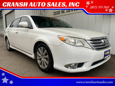 2011 Toyota Avalon for sale at CRANSH AUTO SALES, INC in Arlington TX