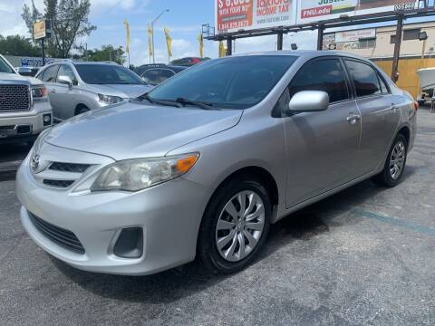 2012 Toyota Corolla for sale at AUTO ALLIANCE LLC in Miami FL