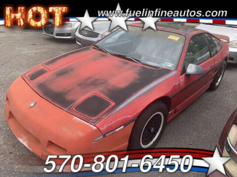 1988 Pontiac Fiero for sale at FUELIN FINE AUTO SALES INC in Saylorsburg PA