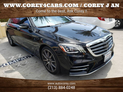 2018 Mercedes-Benz S-Class for sale at WWW.COREY4CARS.COM / COREY J AN in Los Angeles CA