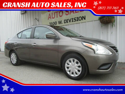 2015 Nissan Versa for sale at CRANSH AUTO SALES, INC in Arlington TX