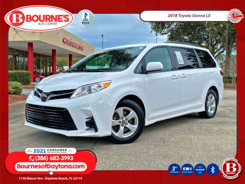 2018 Toyota Sienna for sale at Bourne's Auto Center in Daytona Beach FL