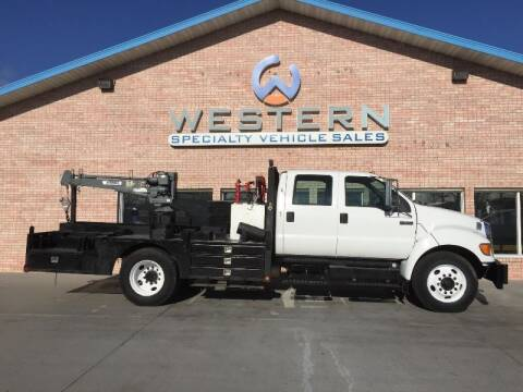 2007 Ford F650 Crane Truck for sale at Western Specialty Vehicle Sales in Braidwood IL