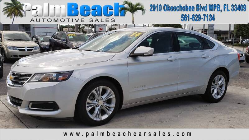 2014 Chevrolet Impala for sale at Palm Beach Automotive Sales in West Palm Beach FL