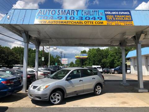 2004 Pontiac Vibe for sale at Auto Smart Charlotte in Charlotte NC