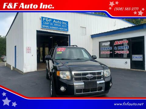 2010 Ford Escape for sale at F&F Auto Inc. in West Bridgewater MA