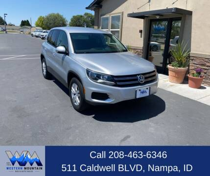 2013 Volkswagen Tiguan for sale at Western Mountain Bus & Auto Sales in Nampa ID