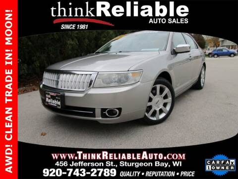 2008 Lincoln MKZ for sale at RELIABLE AUTOMOBILE SALES, INC in Sturgeon Bay WI