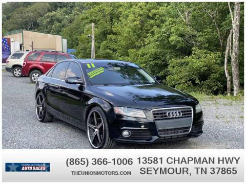 2011 Audi A4 for sale at Union Motors in Seymour TN