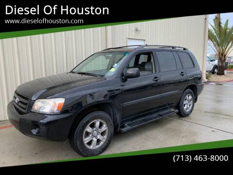 2004 Toyota Highlander for sale at Diesel Of Houston in Houston TX