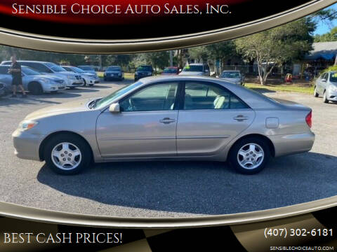 2002 Toyota Camry for sale at Sensible Choice Auto Sales, Inc. in Longwood FL