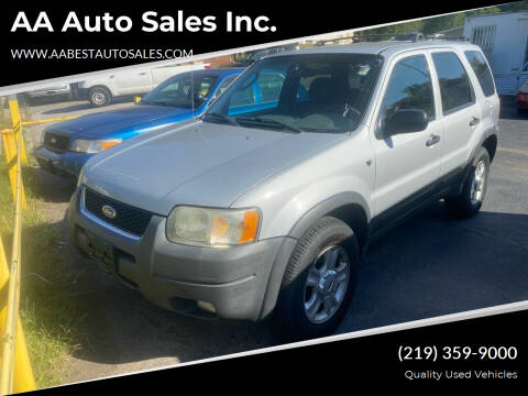 2002 Ford Escape for sale at AA Auto Sales Inc. in Gary IN